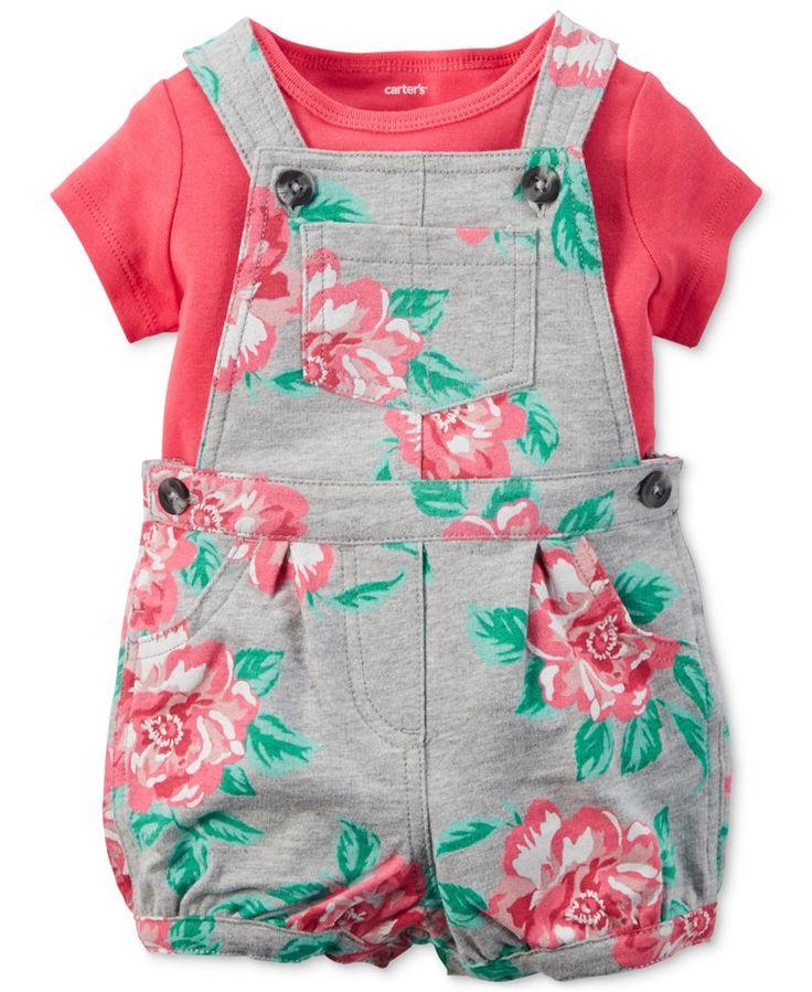 baby girl clothing carteru0027s baby girlsu0027 2-piece t-shirt u0026 floral-print ... brentlb