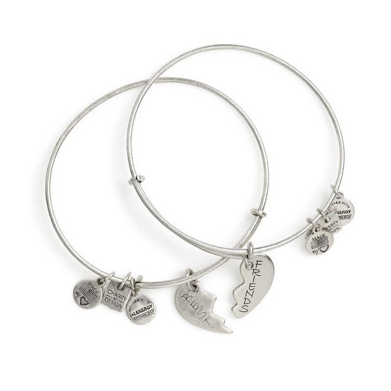 bangle charm bracelet alex and ani best friends set of 2 bangle charm bracelets - rafaelian  silver VOSMNOI