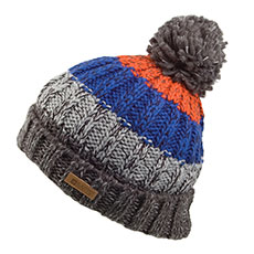 barts hats wilhelm bobble hat - grey-blue evjqvgq