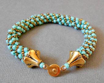 beaded bracelets teal seed bead bracelet beaded bracelet bead jewelry gold bracelet boho  jewelry native american ILBTIZU