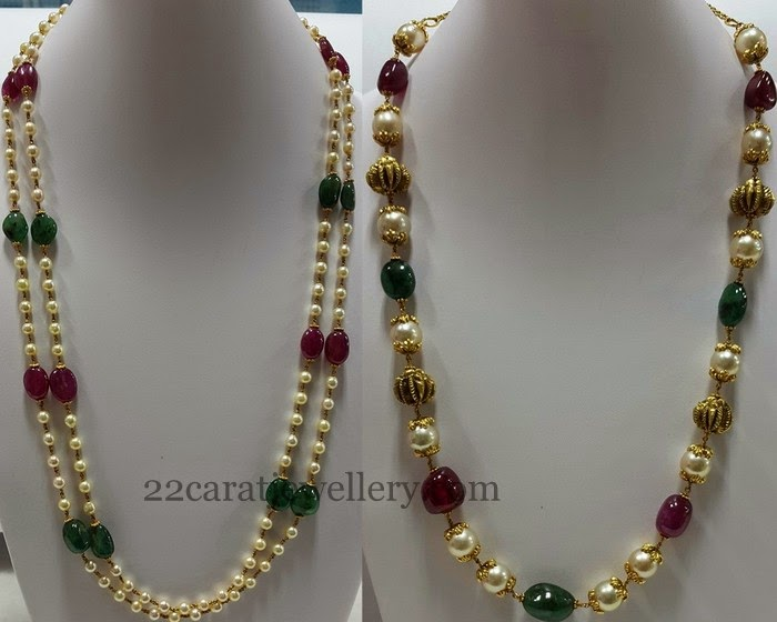 beads jewellery designs jewellery designs: multi beads gallery with pearls FHTZUKI