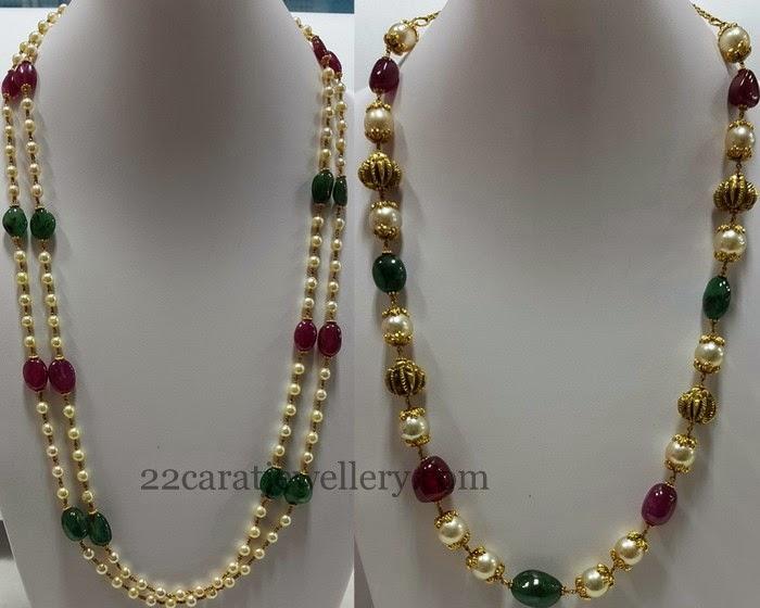 beads jewellery designs jewellery designs: multi beads gallery with pearls FHTZUKI