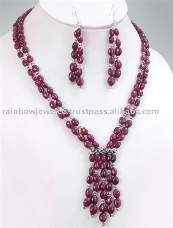 beads jewellery designs source stunning designer cabochon oval ruby beads necklace on m.alibaba.com TCPNBIF