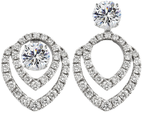 beautiful diamond convertible earring jackets let you wear your diamond  studs two different ways. qsekahd