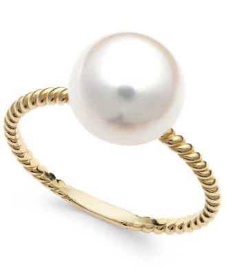 belle de mer cultured freshwater pearl ring in 14k gold (9mm) qxpugmd