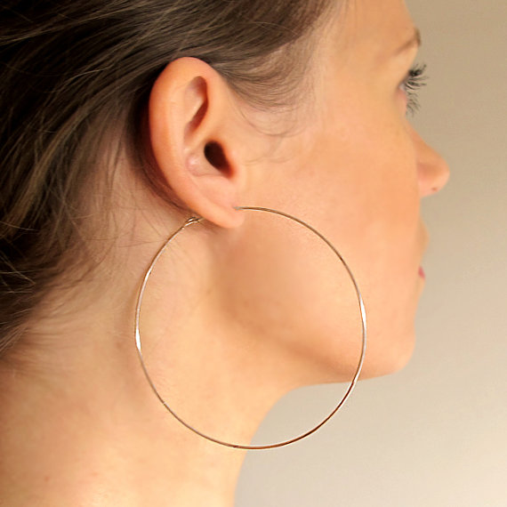 big hoop earrings rose gold filled hoops earrings - extra large hoops - big hoops earrings - CYVVFEC