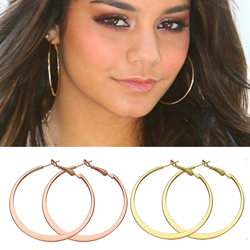 big hoop earrings rose multicolor jewelry minimalist earrings for women  brincos 2016 fashion-in hoop LVUPAQM