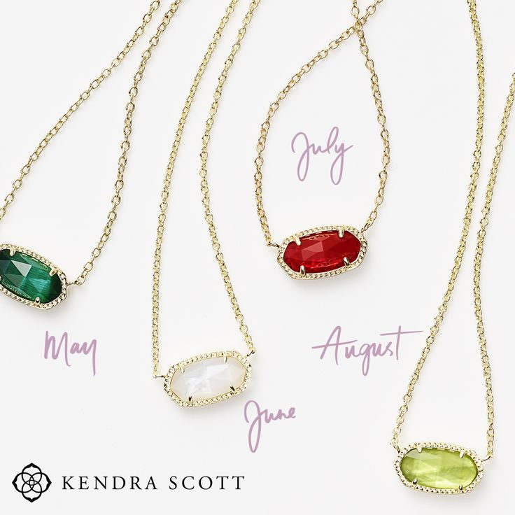 birthstone necklace check out these gorgeous kendra scott birthstone elisa necklaces at atlanta  west jewelry AQPIXKB