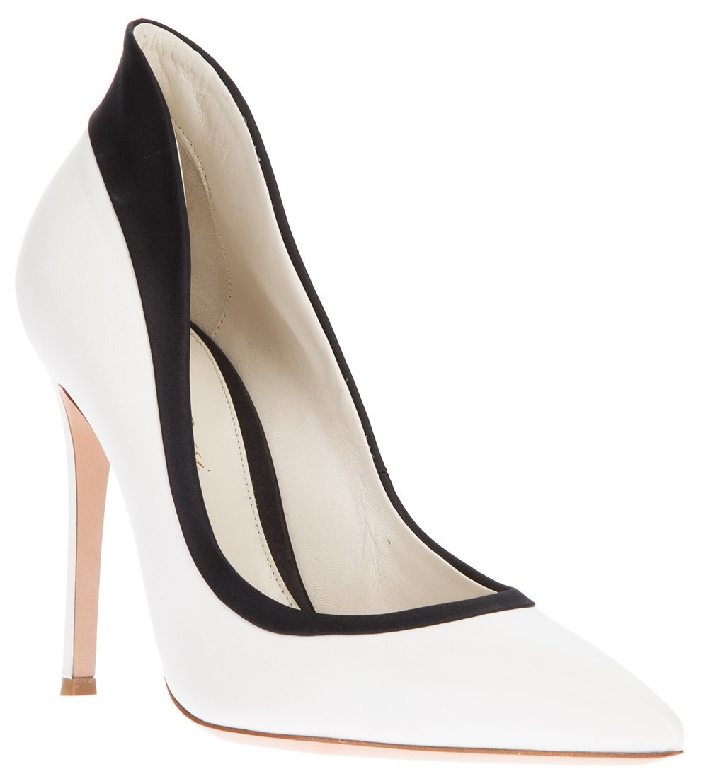 black and white pumps shoe luv : the daily heel: giavanito rossi black and white pointed . kceoxum