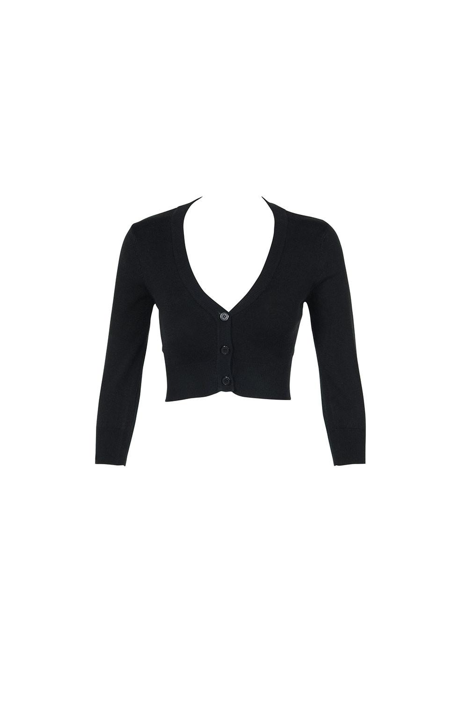 black cardigan cropped cardigan in black xvockqf