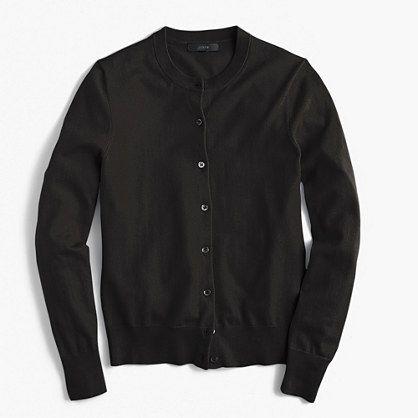 black cardigan j. crew cotton jackie cardigan sweater in black ekpaatz