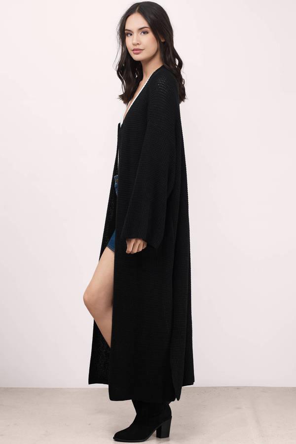 black cardigan ... keep me warm black jersey knitted cardigan ... nnzifog