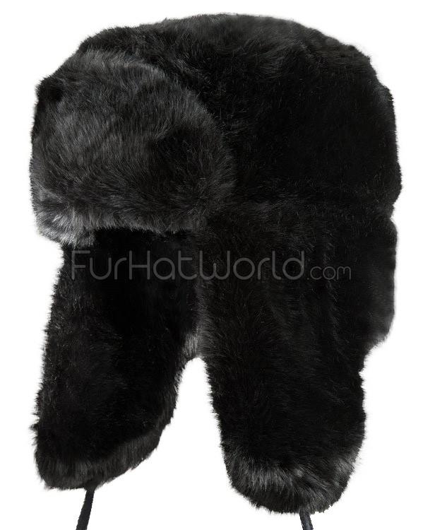 black faux fur russian ushanka hat rckywjd