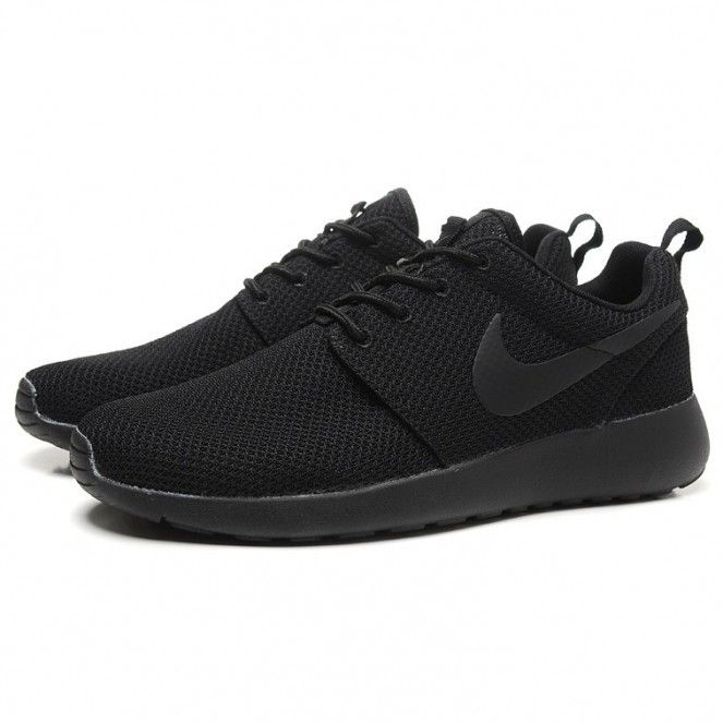 black shoes nike roshe run splatter pack running shoes all black rszmdax