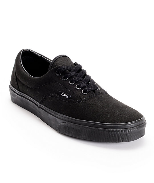 black shoes vans era classic all black skate shoes cpecmmf