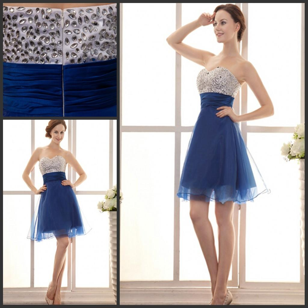 bling bling designer cocktail dresses suzhou china sweetheart neckline a  line mini blue chiffon enbhpnr