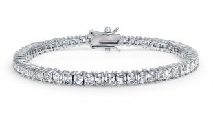 bling jewelry cubic zirconia asscher cut bridal tennis bracelet wakvpmb