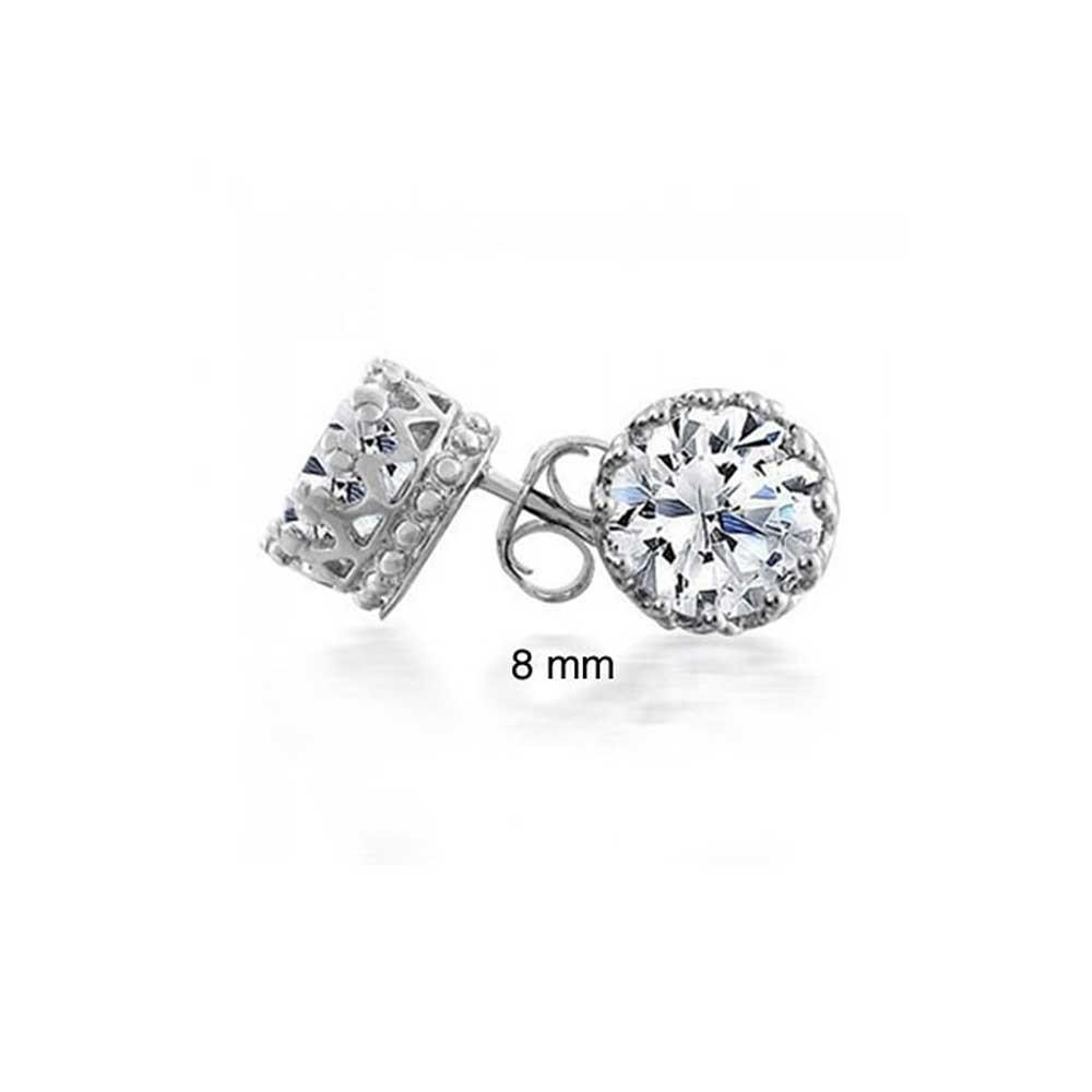 bling jewelry mens gold vermeil round cz crown sterling silver stud earrings elktgyu