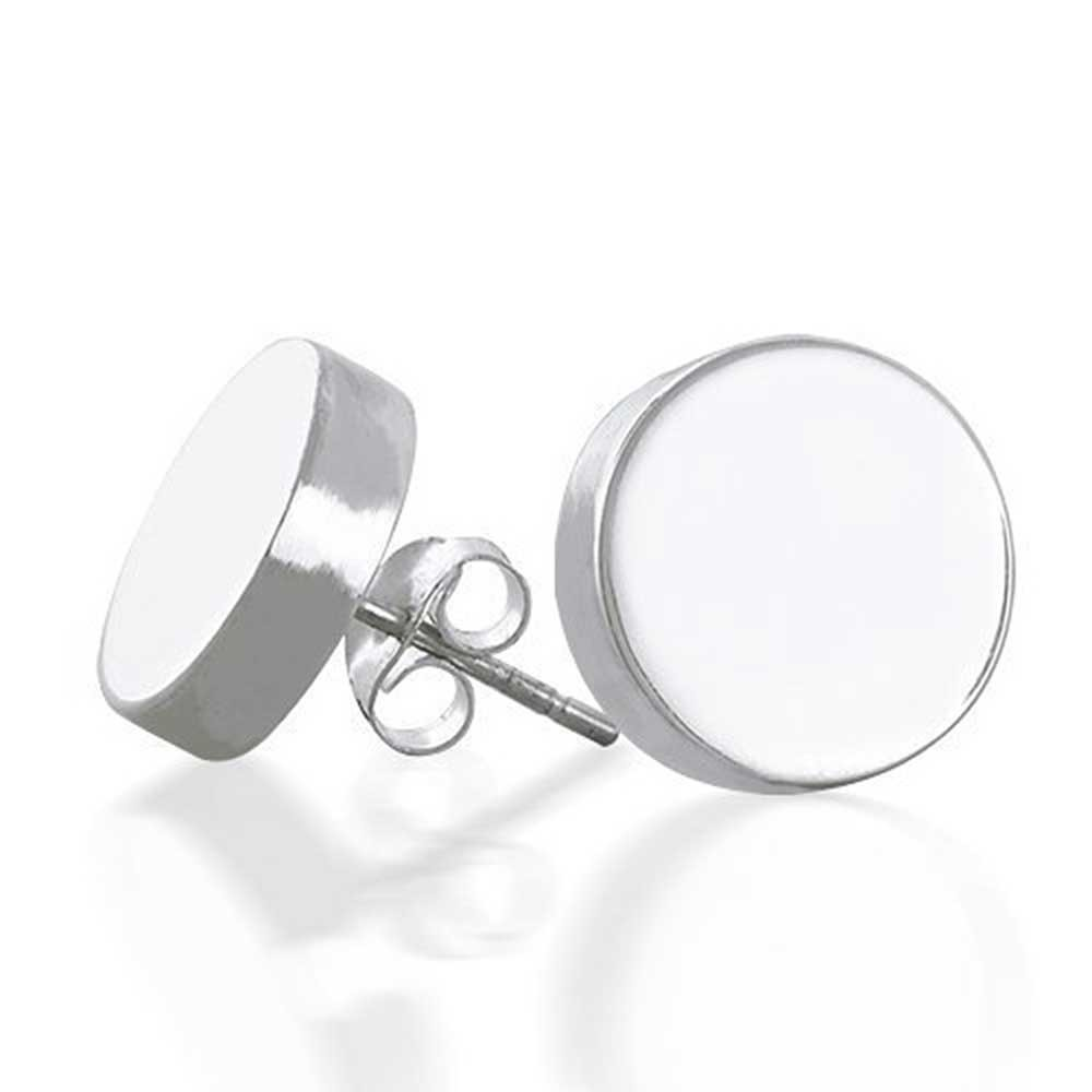 bling jewelry round engravable sterling silver stud earrings rombsds