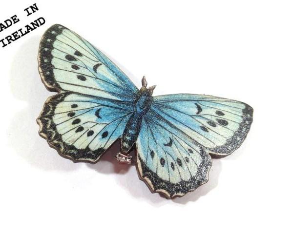 blue butterfly brooch hsldljf