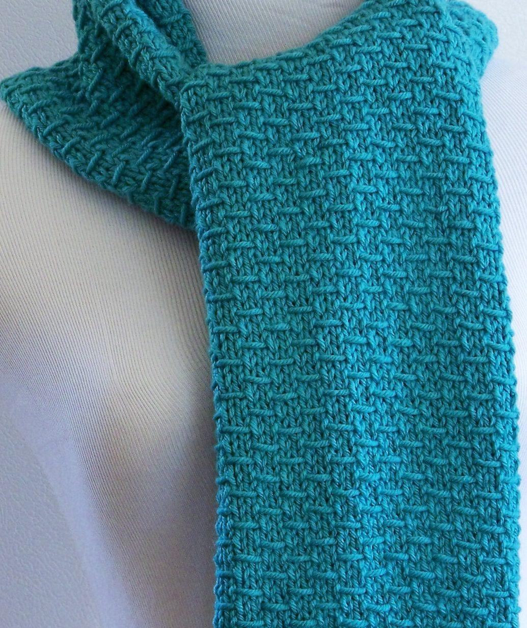 blue knit scarf nwzrwys