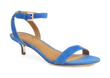 blue suede sandal kitten heel vjyzfcd