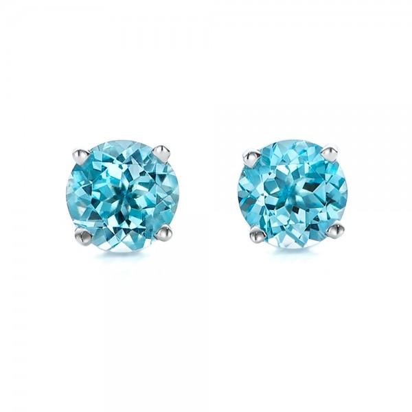 blue topaz earrings blue topaz stud earrings VVWRELT