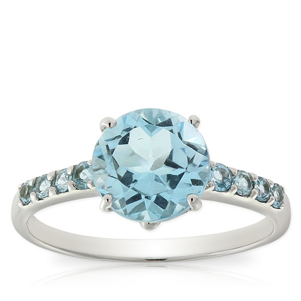 blue topaz ring 14k ... itxnjcm