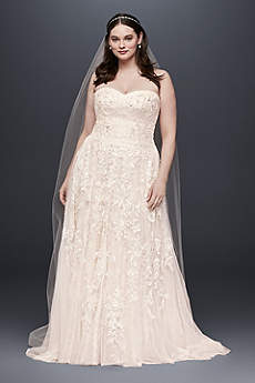 blush wedding dress long a-line vintage wedding dress - melissa sweet zlpkfhl