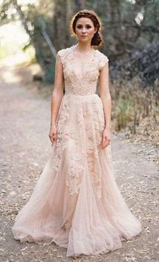 blush wedding dress top wedding dress trends for 2015 - part 2 lugvtyj
