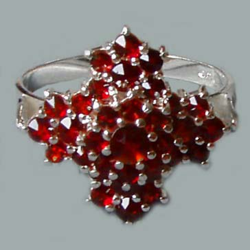 bohemian garnet jewelry - rings sterling silver nchwoyg