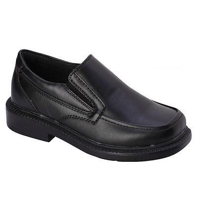 bonafini boys k-106 black slip on formal dress school church shoes ipkdsyp