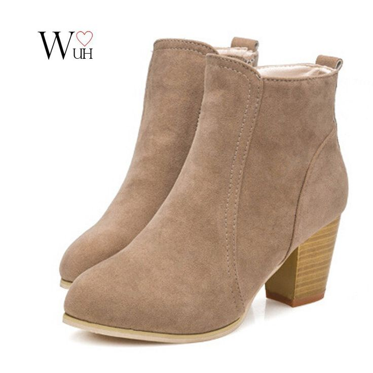 boots with heels short cylinder martin side zipper ankle high heels boots shoes jvopvkf