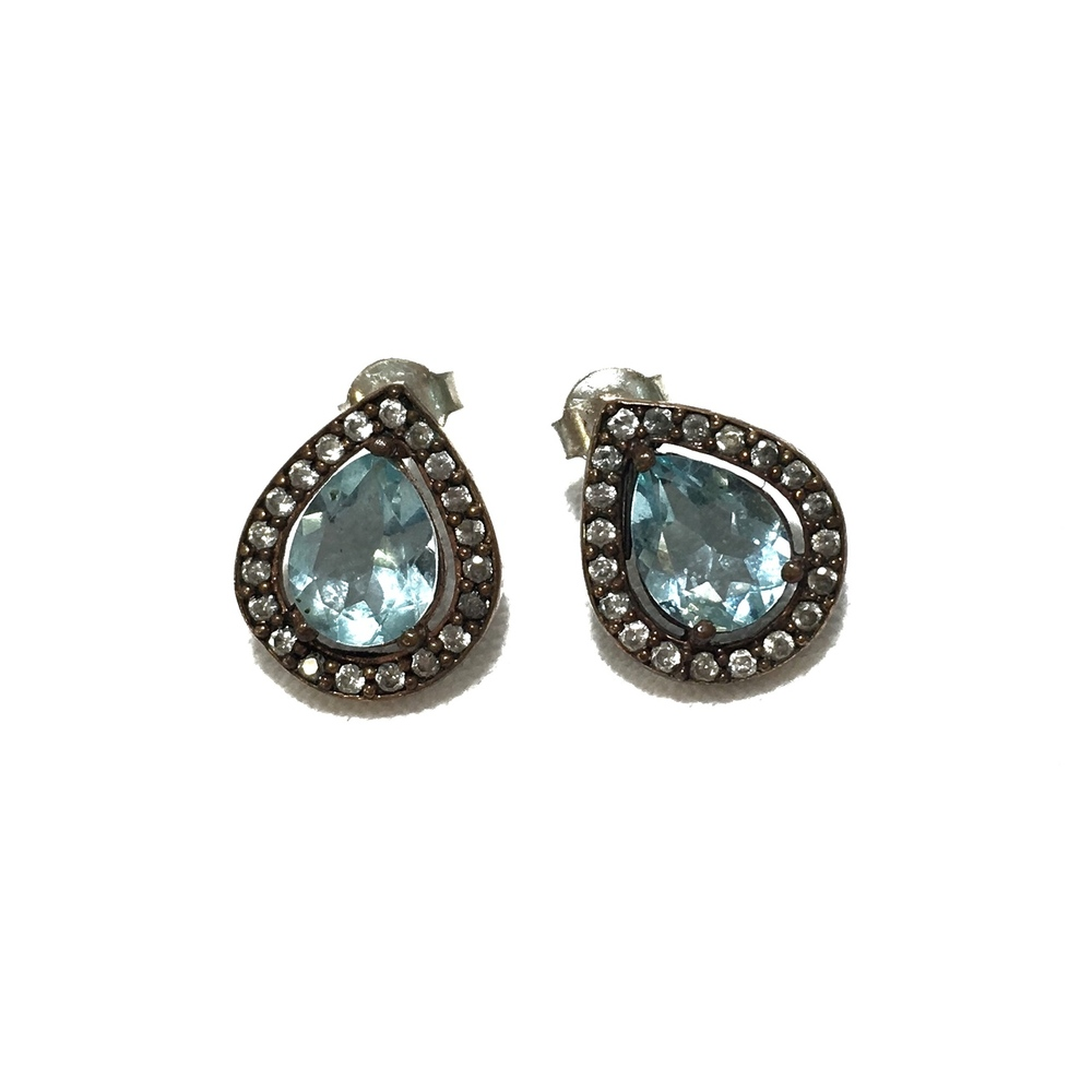 bora jewelry - blue quartz handcrafted designer earrings gyihjne
