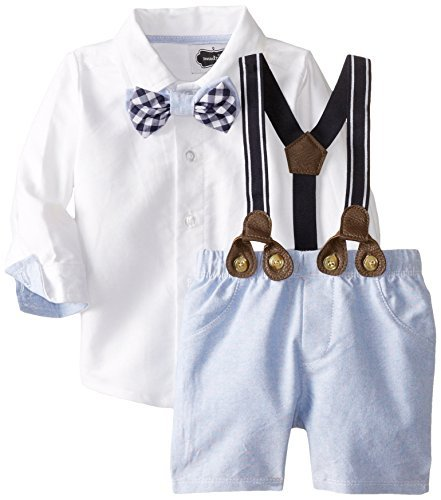 boys easter outfits mud pie baby boysu0027 suspender short set, chambray, 12 18 months hdvdcwg