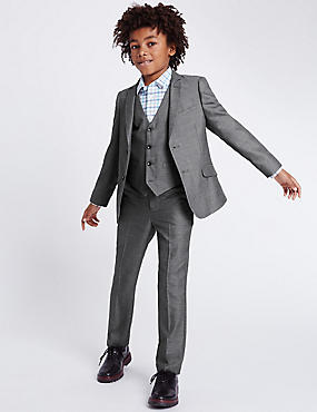 boys suit ... grey tailored fit suit (3-14 years) ntxqvxi