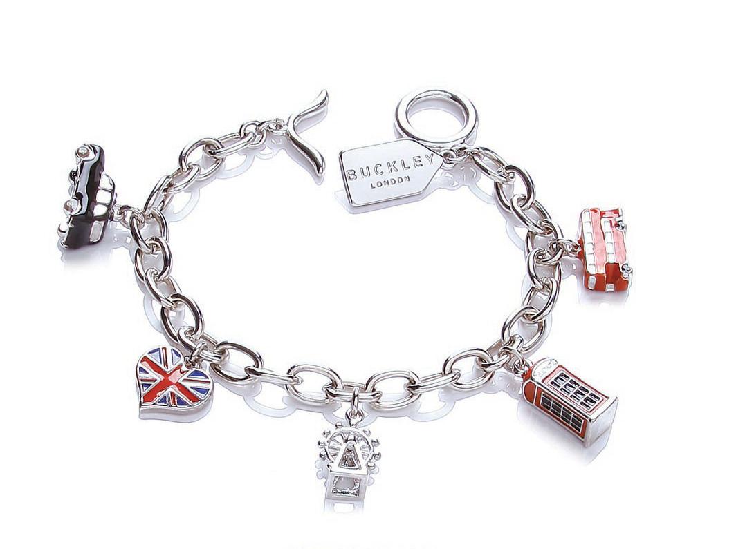 bracelet charms buckley london charm bracelet ... VYRTWAW