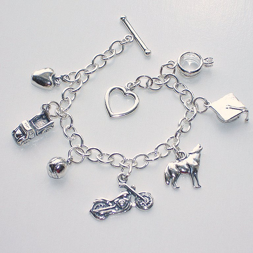 bracelet charms the twilight charm bracelet features seven carefully selected sterling  silver charms XZISPMX