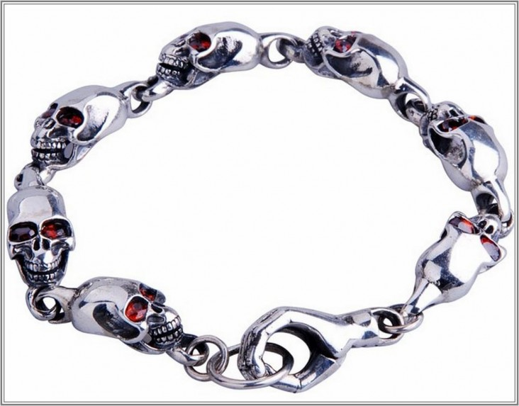 bracelet skull jewelry for men kwzdaob