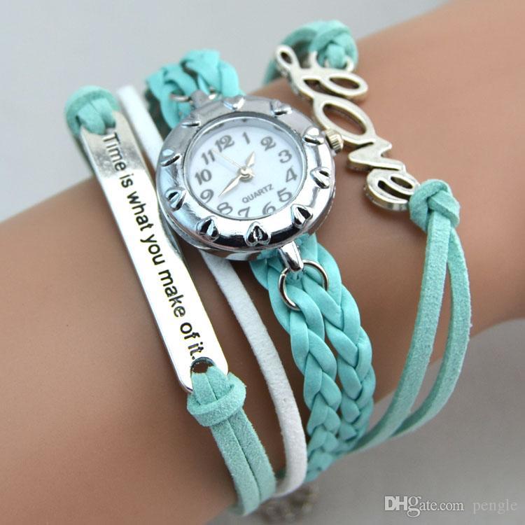bracelet watch hot new infinity watches weave bracelet watches lady wrap watches love  cross dream double homvdjh