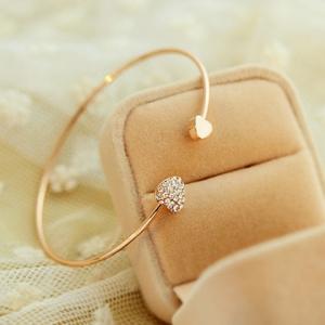 bracelets for women gold plated diamante heart embellished sister bracelet atbbnyr