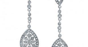 bridal art deco cz teardrop chandelier earrings gatsby inspired cjckwln