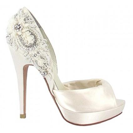 bridal heels narke by menbur in ivory kgtpwnp