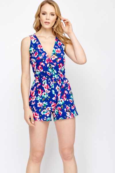bright floral playsuit pazospc