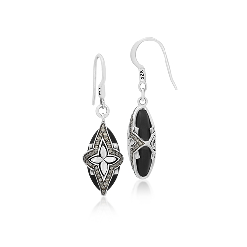 brown diamond u0026 matte black onyx earrings sjaqqyv