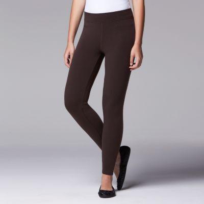 brown leggings womenu0027s simply vera vera wang solid brushed leggings. brown black gray  heather lbviibq