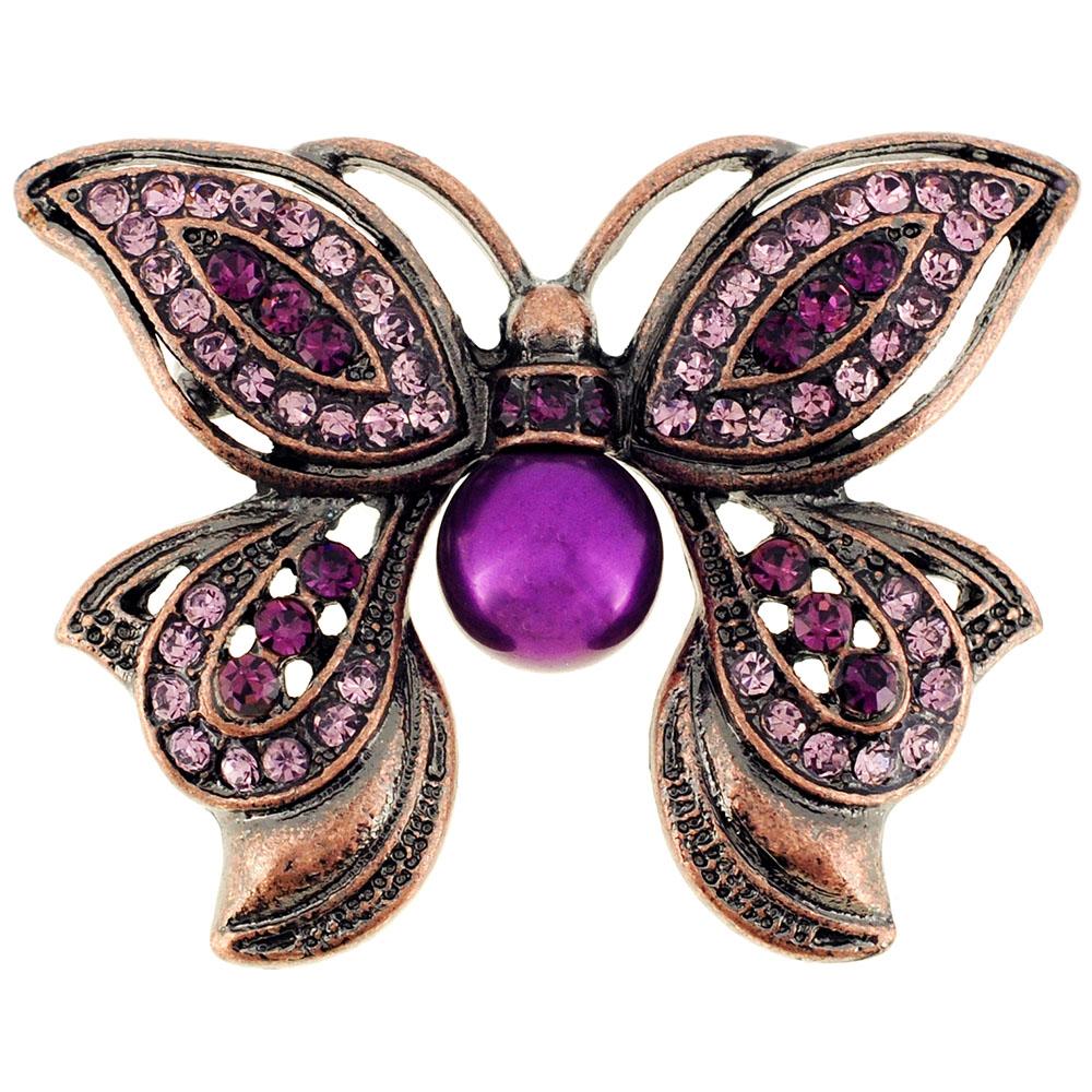 butterfly brooch amethyst purple butterfly crystal pin brooch etqovjg