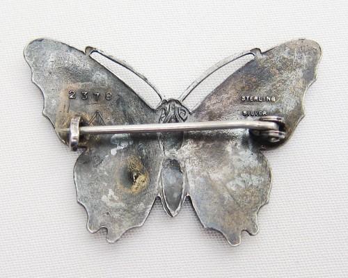 butterfly brooch ... art-deco-enamel-monarch-blue-butterfly-pin ... fghrqiv