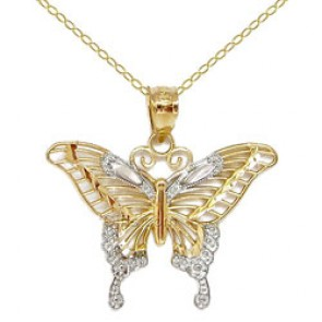 butterfly jewelry 14k gold swallowtail butterfly necklace ybmfrbo