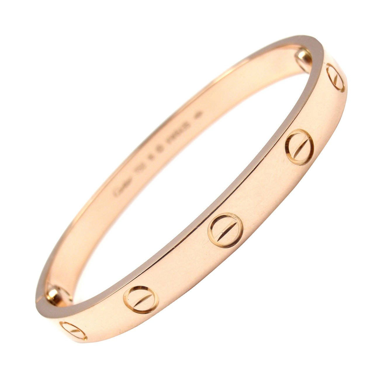 cartier love rose gold bangle bracelet 1 armevvn